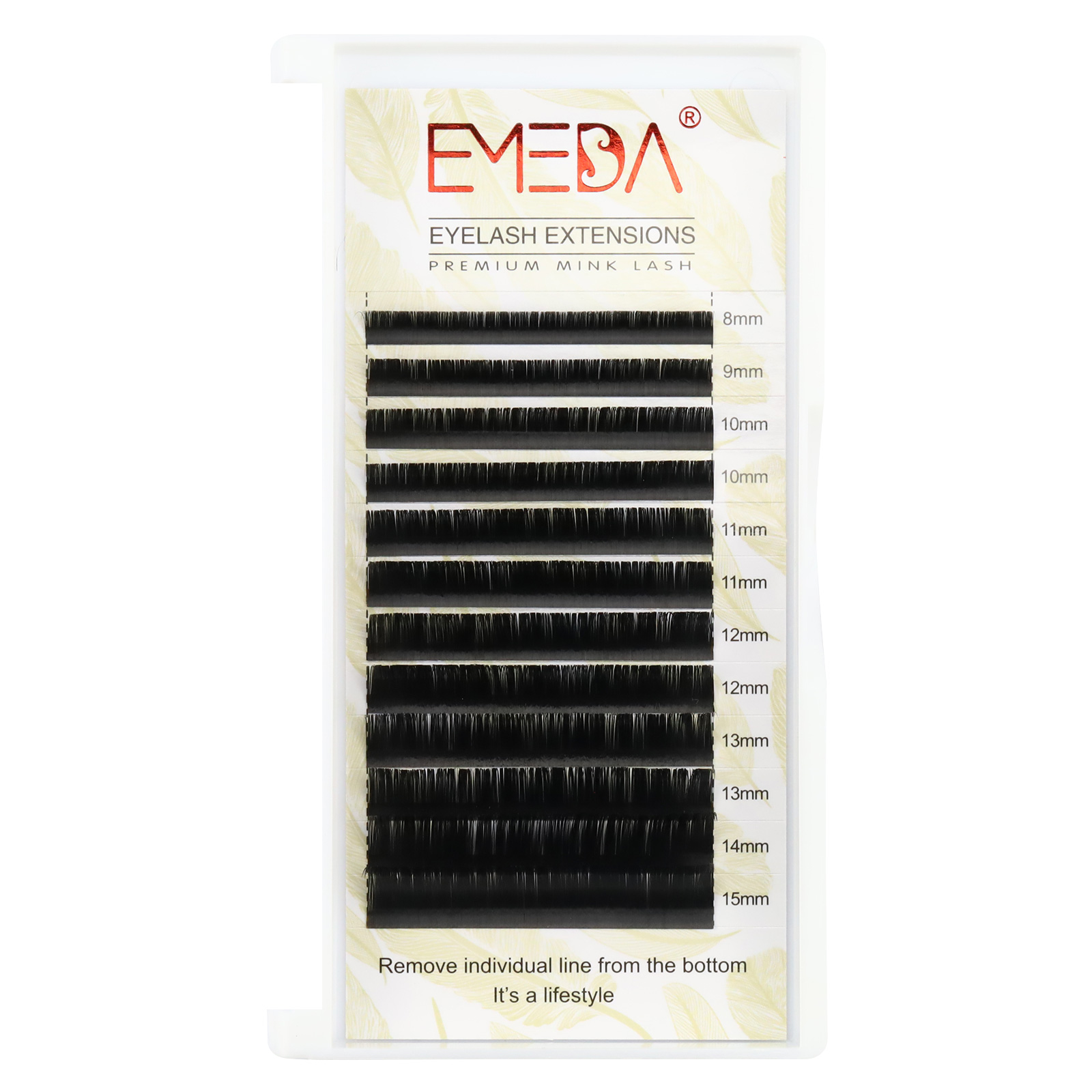 Best Quality 0.05mm Matte Black Eyelash Extensions with Private Label