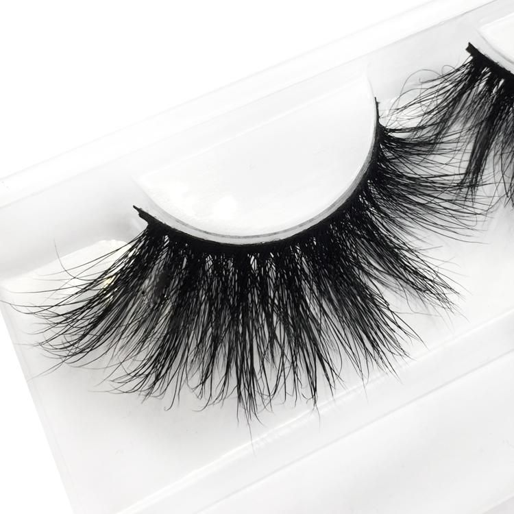 Private label 25mm mink eyelash supplier with custom packaging box JN41