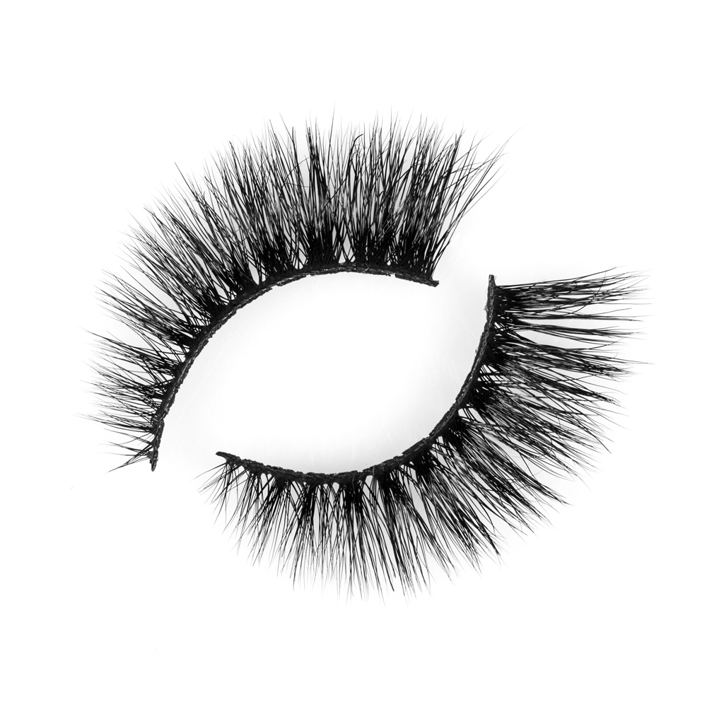 Hotsale natural black mink fur lashes with wholesale price JH20