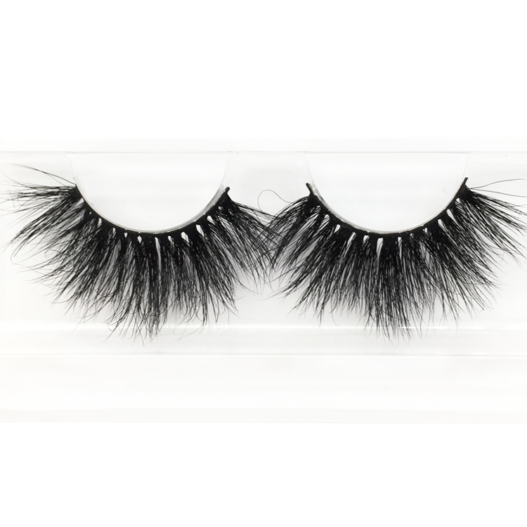 Reusable Hand-made 25mm 3D Mink Lashes Easy to Wear ZX16