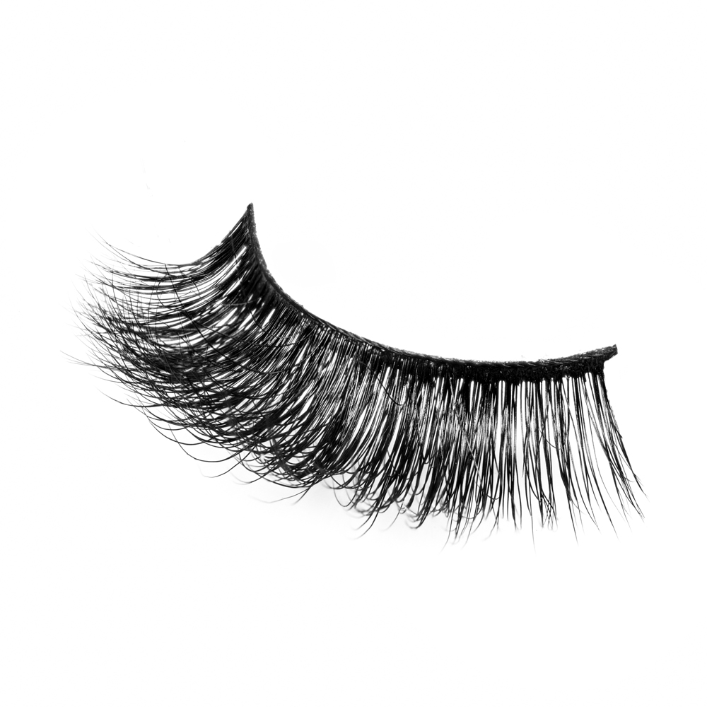 Private label Hand Made manufacturer 3D mink strip eyelashes JN46