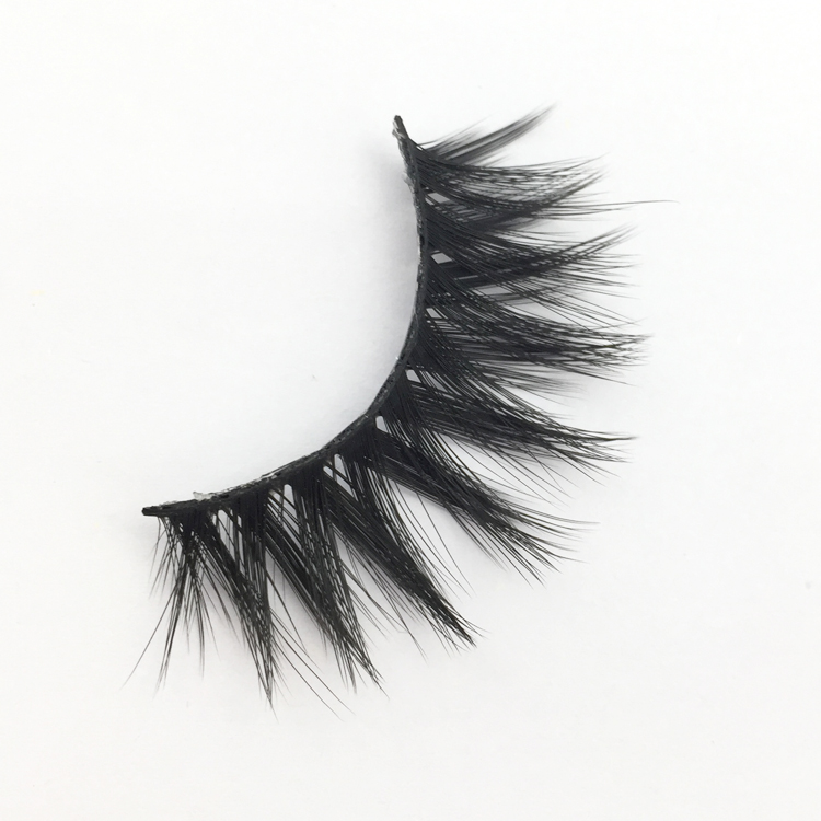 3D Handmade Lashes 100% Layered Natural Effect cruelty free 3d silk lashes faux mink eyelashes XJ18