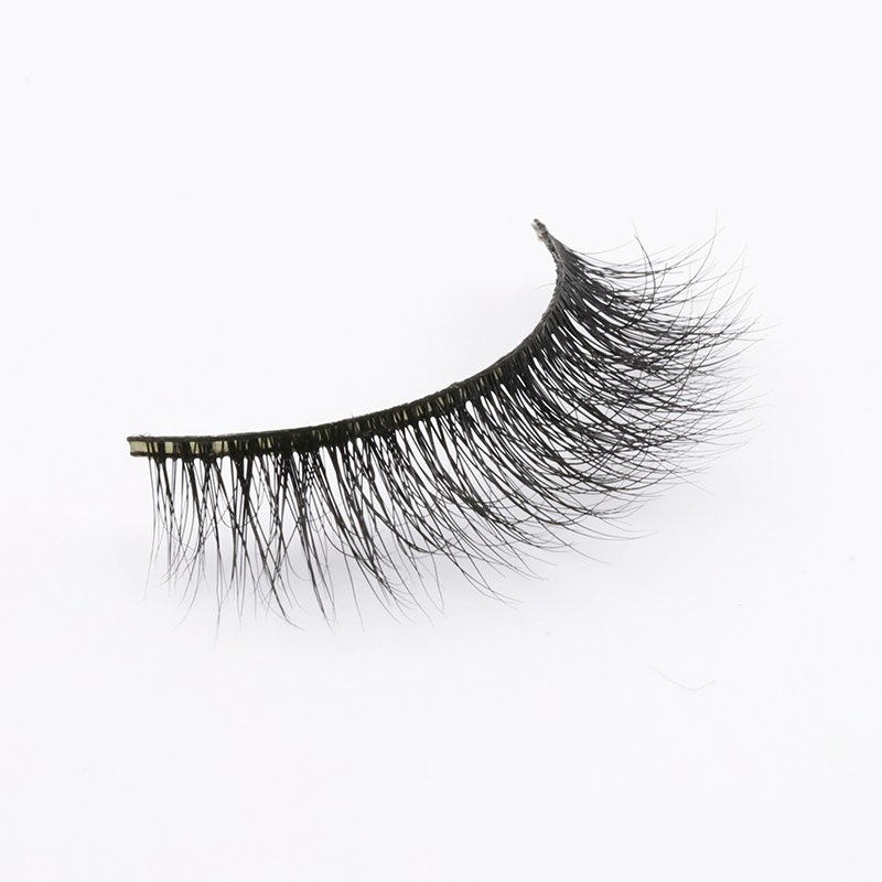 Wholesale 100% Cruelty Free Black Cotton Band 3D Mink Fur Eyelashes Manufacturer 2020 PD48 ZX110