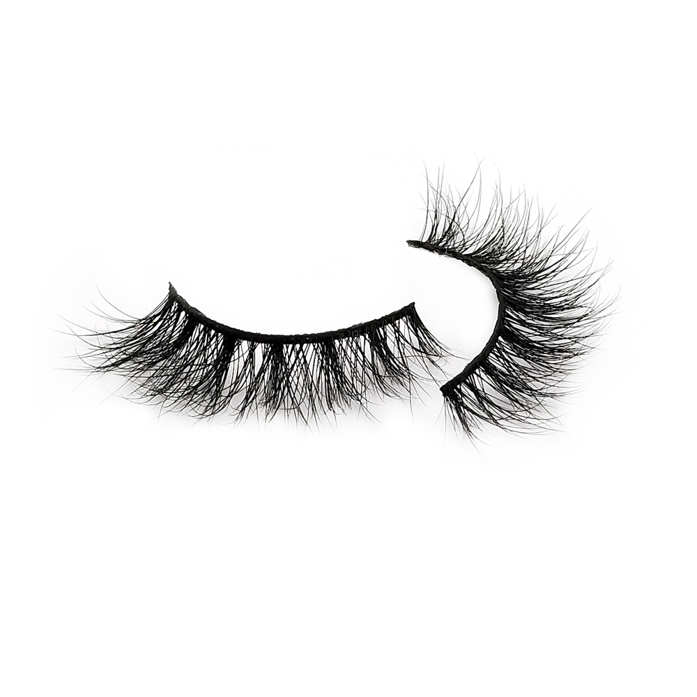 Wholesale Natural Looking Siberian Real Mink Strip False Eyelashes ZX045