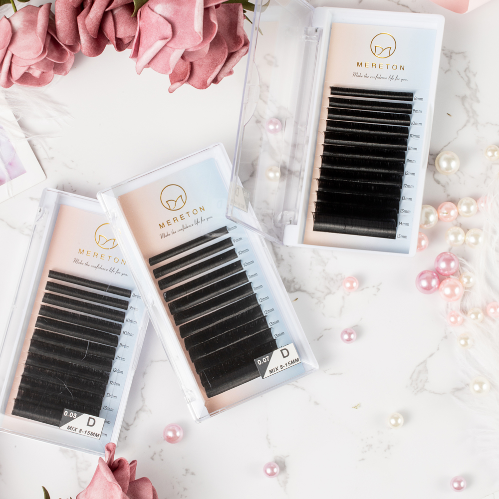 Inquiry for Best seller Amazon private label Blooming volume lash extensions easy fan rapid blooming flower lashes 0.05 0.07 C curl D curl Mixed lengths or Single tray vendors in US XJ62