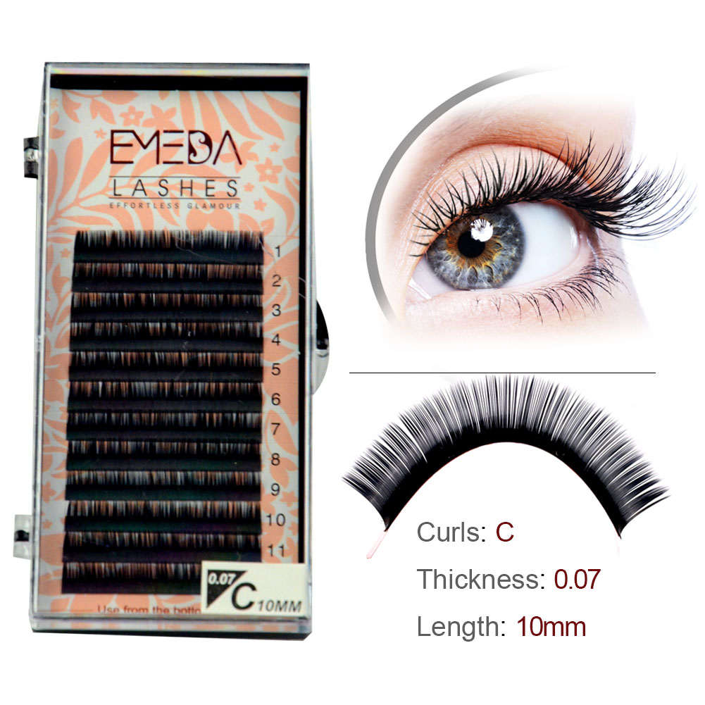 Inquiry for wholesale lash extensions private label lash suppliers usa 0.07 0.10  C D curl 8mm 9mm 10mm XJ27