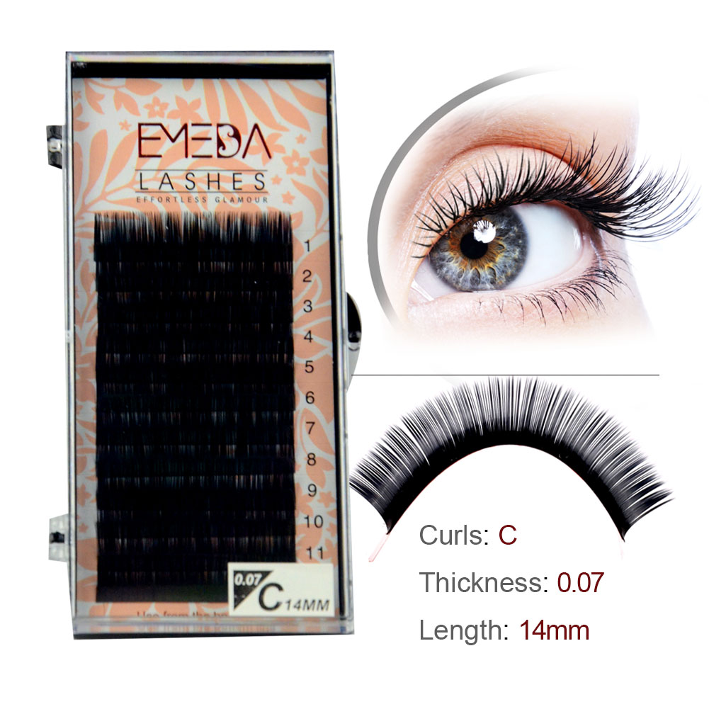 Private Label for Russian Volume Eyelash Extension Best Seller C D Curl in the UK and the US YY77
