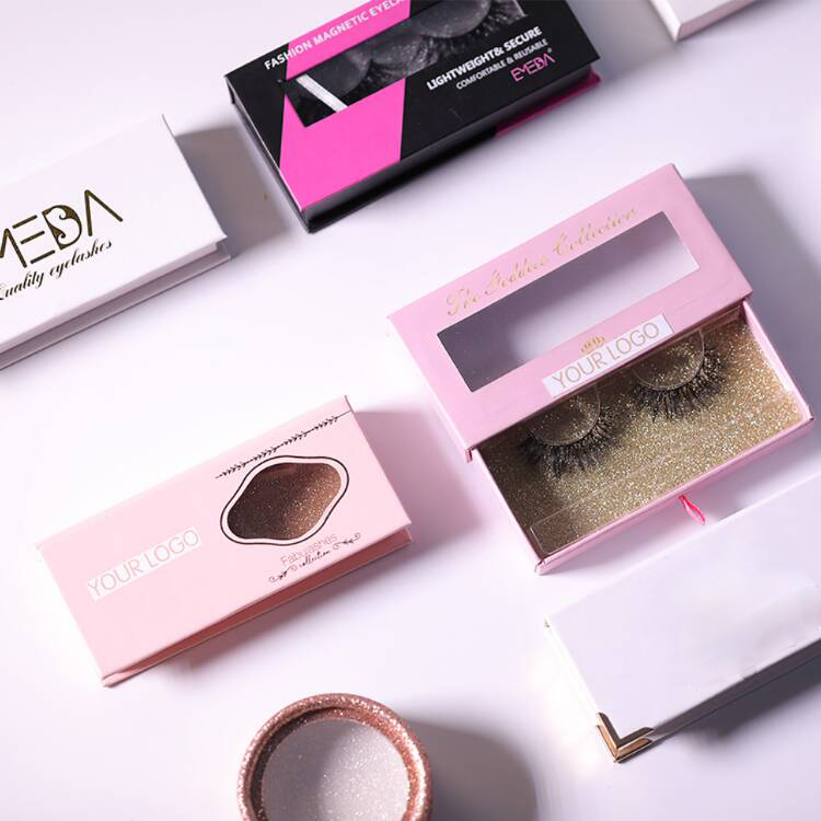 Custom Luxury Empty Round Eyelash Packaging Box for Strip Lashes ZX037