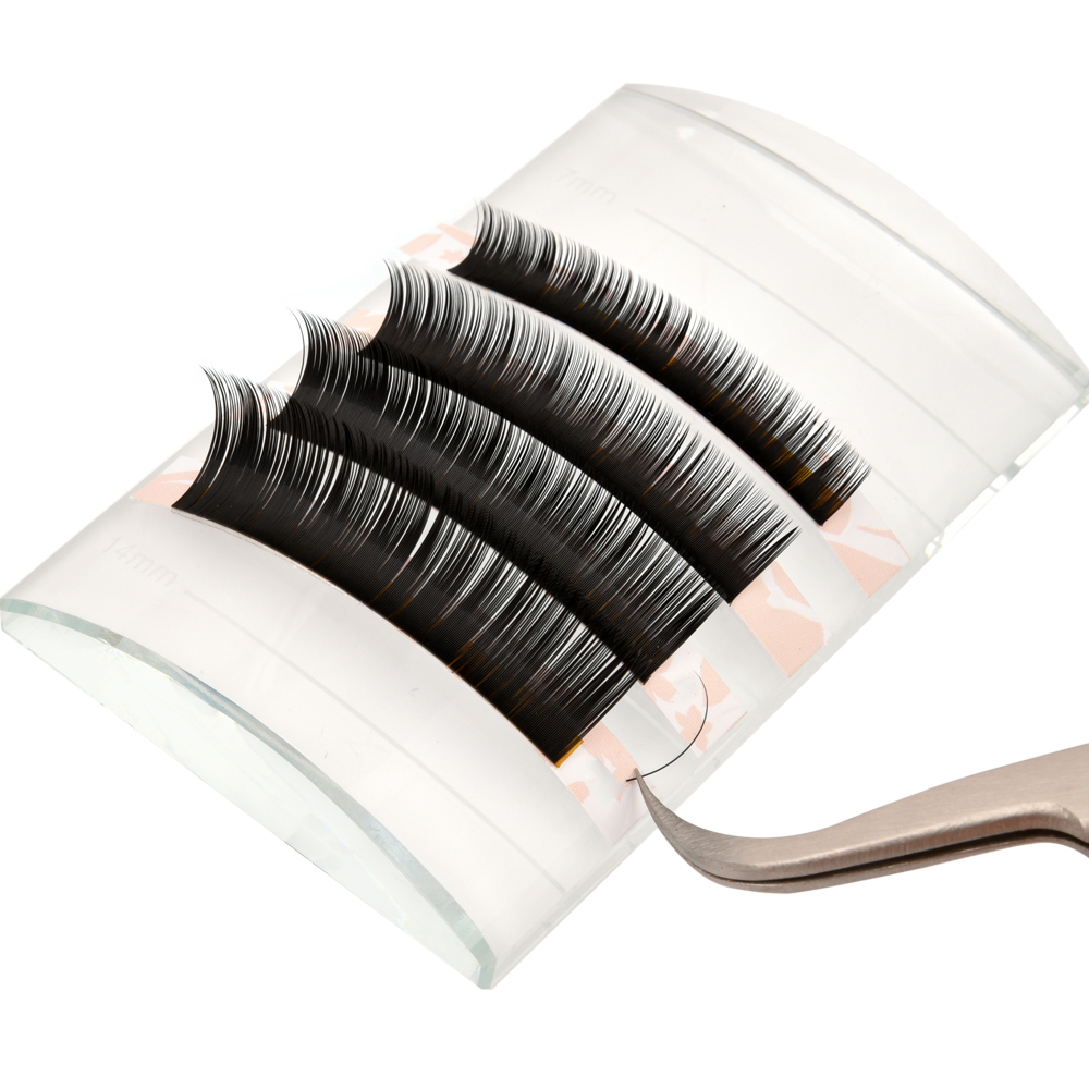 Thickness/Diameter 0.15mm C Curl Mixed Length Individual Classic Eyelash Extensions ZX081