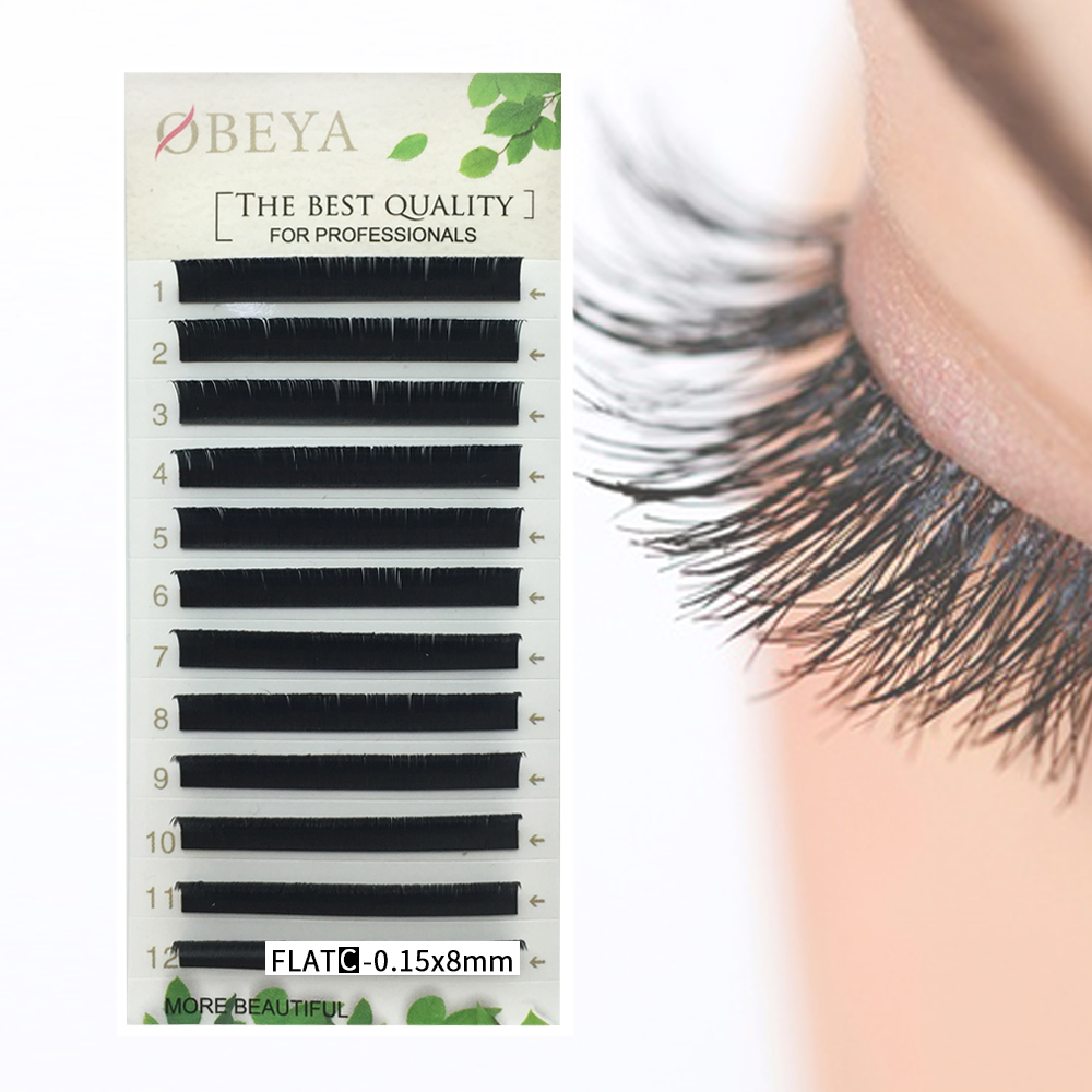 Soft and comfortable 0.15, 0.2,0.25mm thickness flat eyelash extensions best eyelash extensions vendor USA YL74