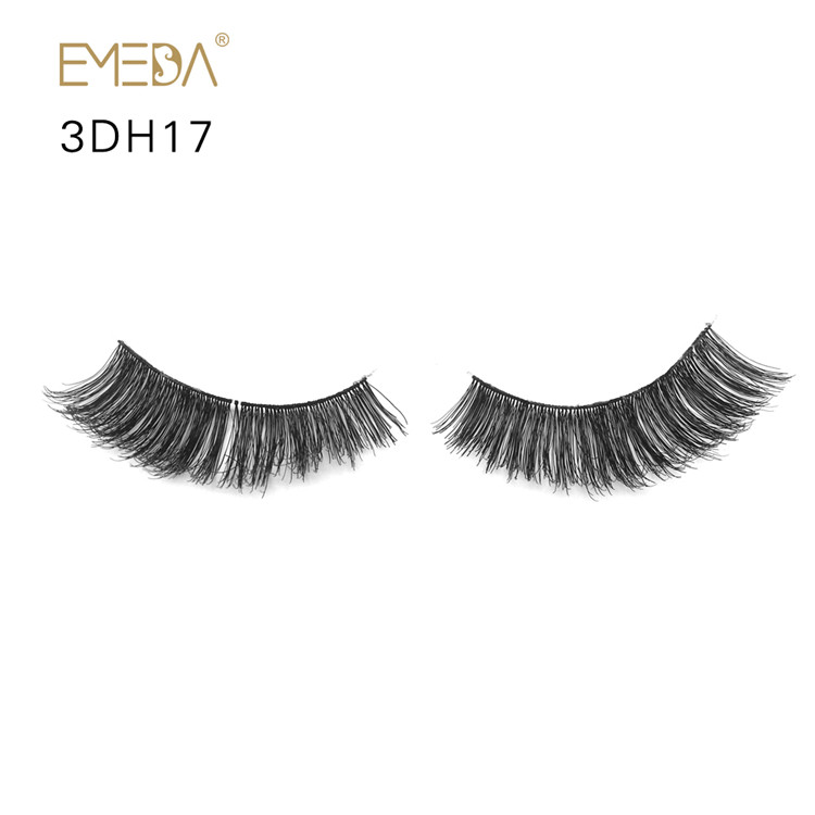 100% Hand Made Human Hair Eyelashes Vendor Best False Eyelashes Natural Fake Eyelashes YL25