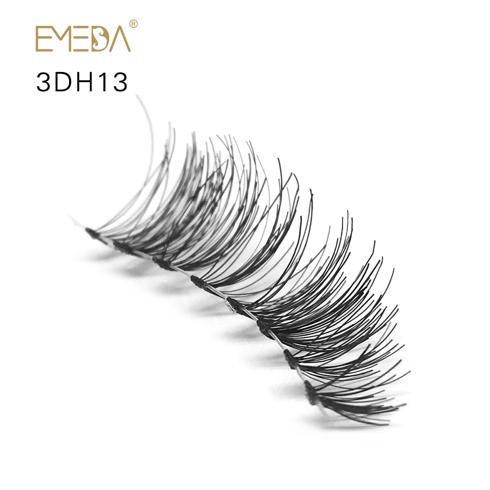Wholesale OBEYA Human Hair Wispy Clear Band Strip Eyelashes ZX07