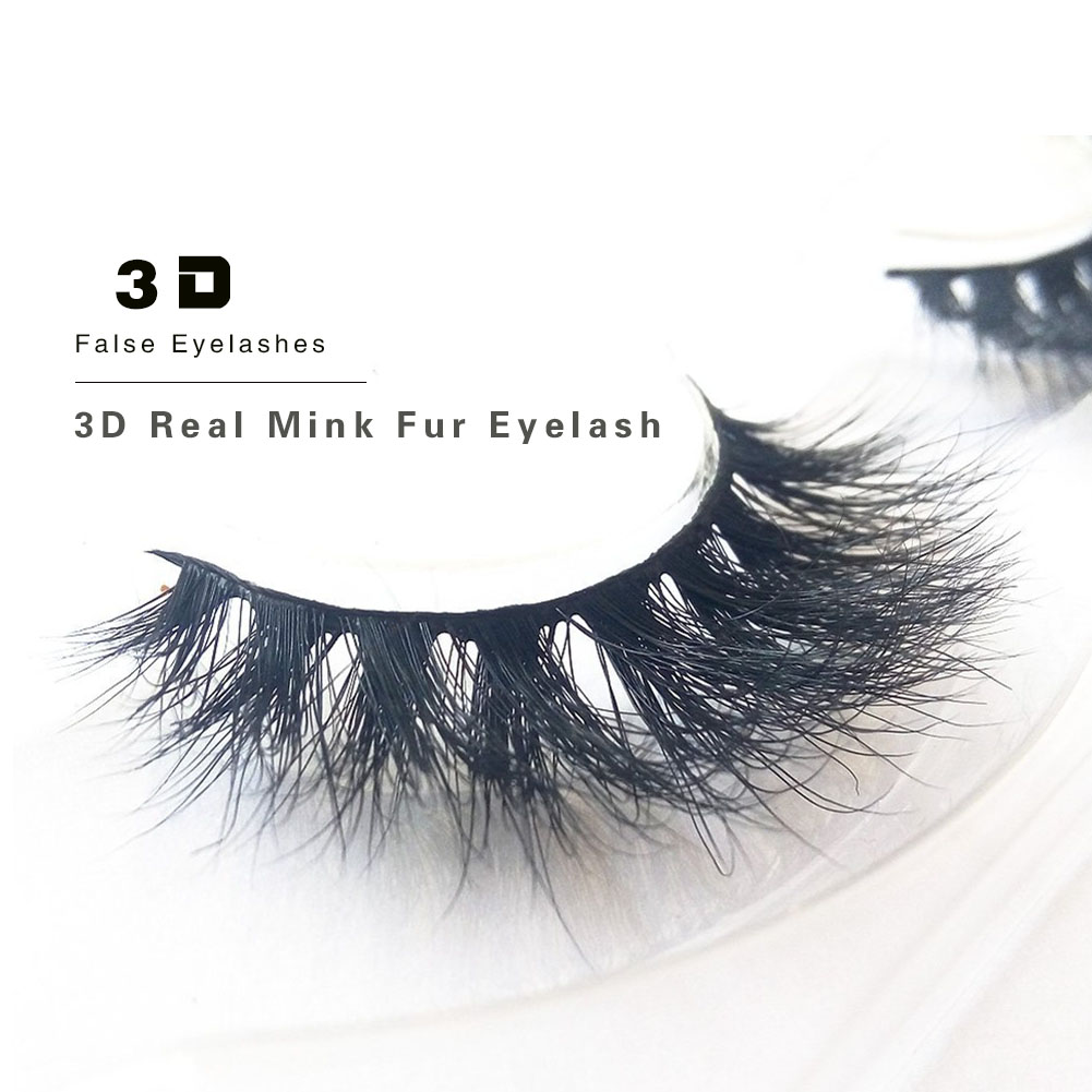 Top Quality OEM Private Label Natural Looking 3D Real Mink Fur False Eyelashes ZX10