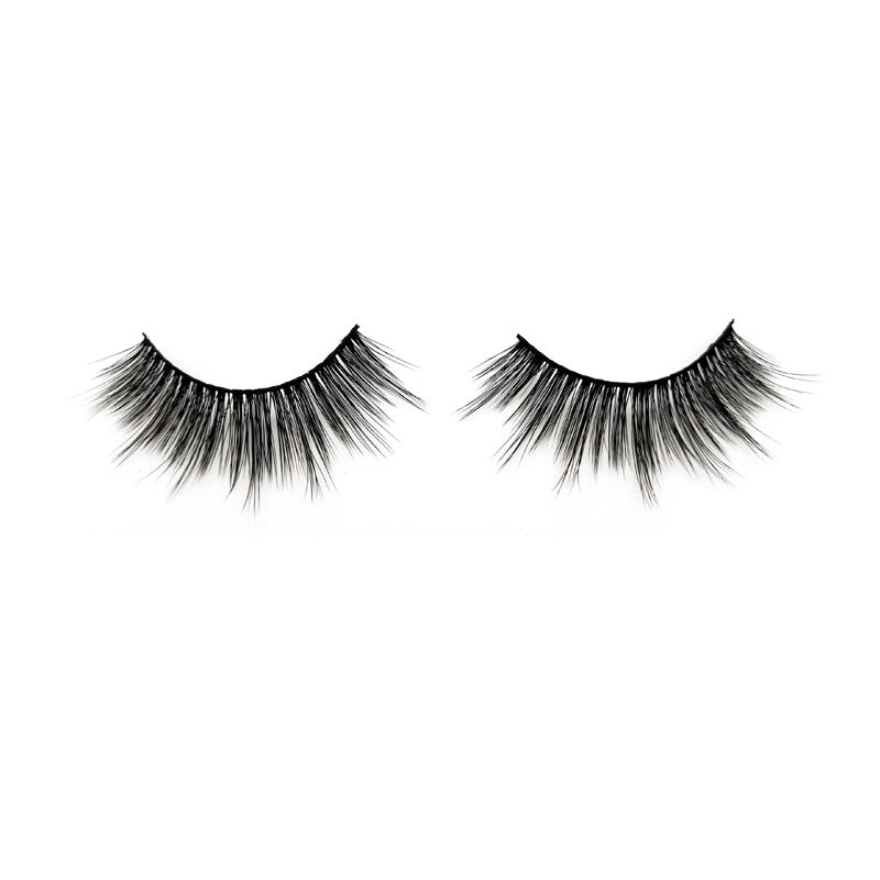 Reusable Synthetic Fiber Material eyelash 100% Handmade  JH24