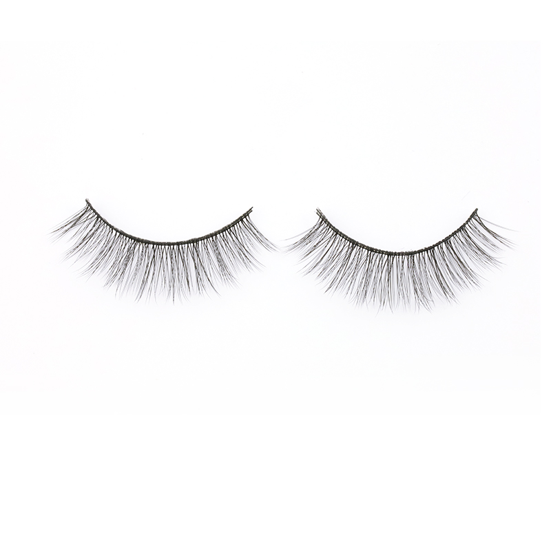 Factory Price Private Package 3D Silk Strip Lashes Korea PBT Fiber Strip Eyelashes Natural and Soft  in the US YY101