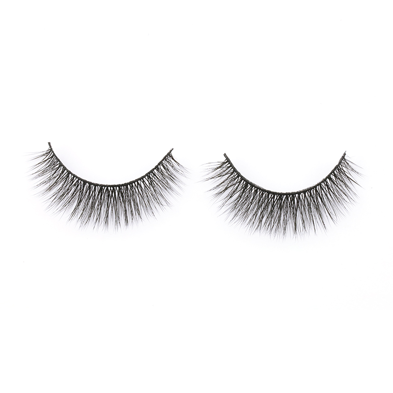 Best Seller Private Box 3D Silk Fake Eyelashes Wholeslae Price Lashes Soft and Natural Strip Lashes in the UK YY102