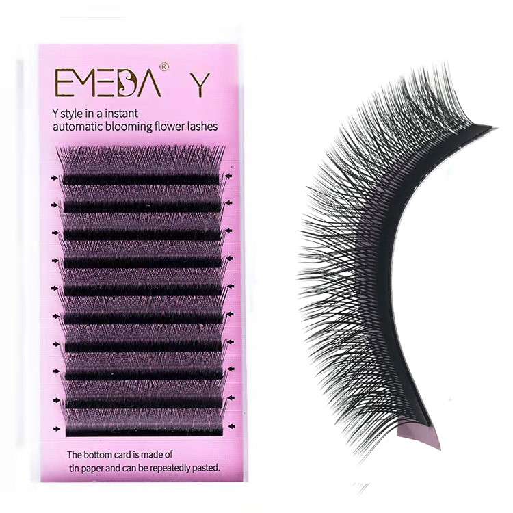 Y shape eyelash extension/ Air double tips/ weave blooming/ in vogue/new trend/ vendor manufacturer supplier wholesale JZ06