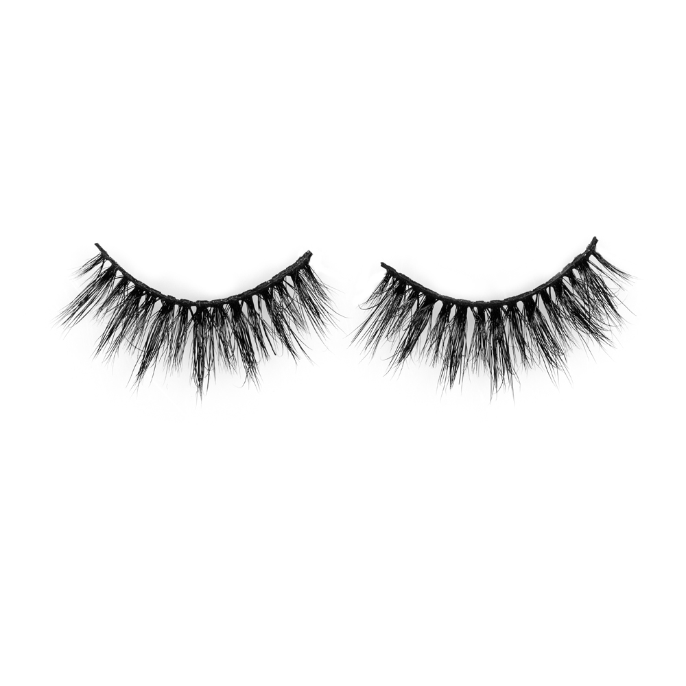 Wholesale price strip mink fur eyelash with premium quality JH127