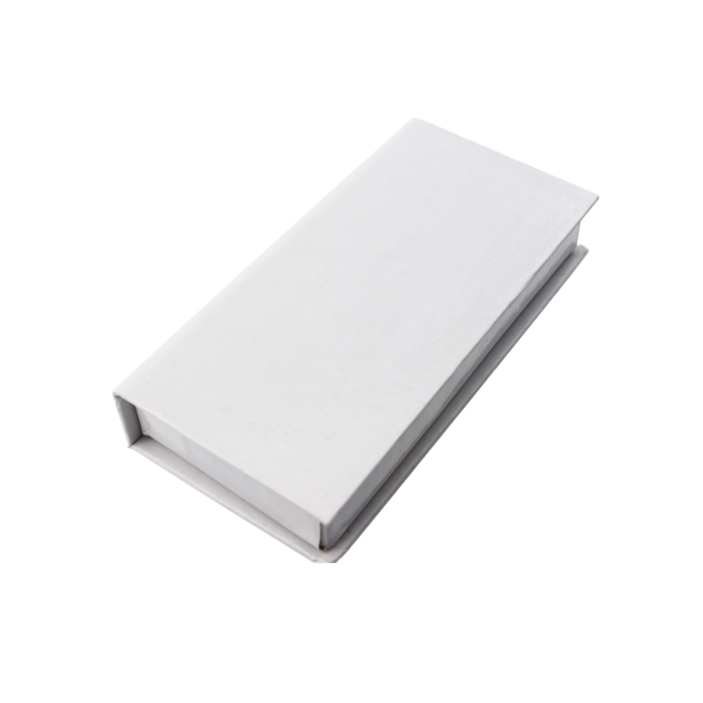 Ins Minimalist Style White Wholesale Custom Eyelash Packaging Box ZX032