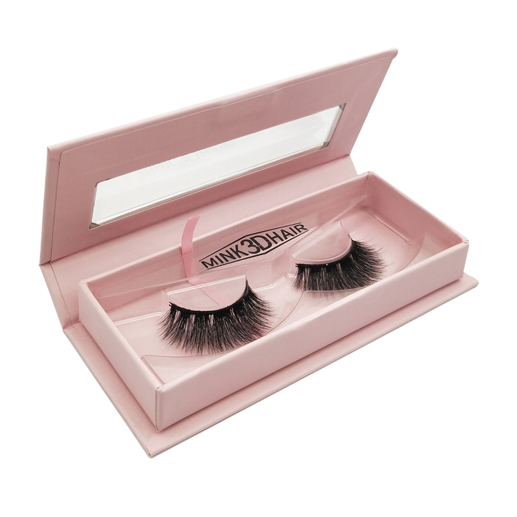 Wholesale Free Design Beautiful Eyelash Packing Box with Private Lable ZX038