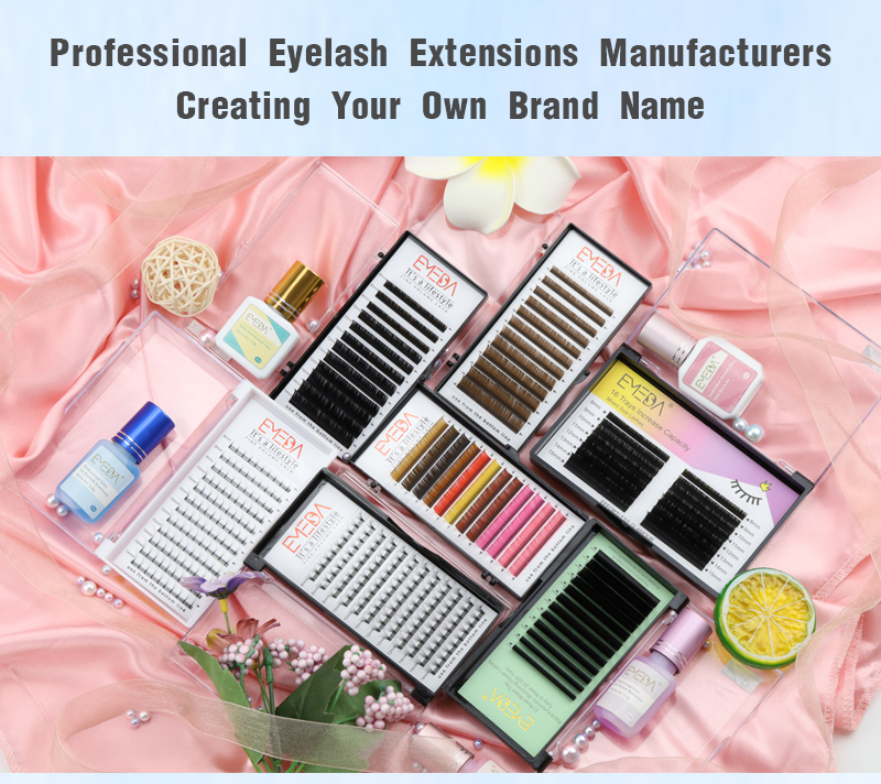Top korean PBT fibers synthetic eyelashes 8-17mm easy fanning volume eyelash extensions