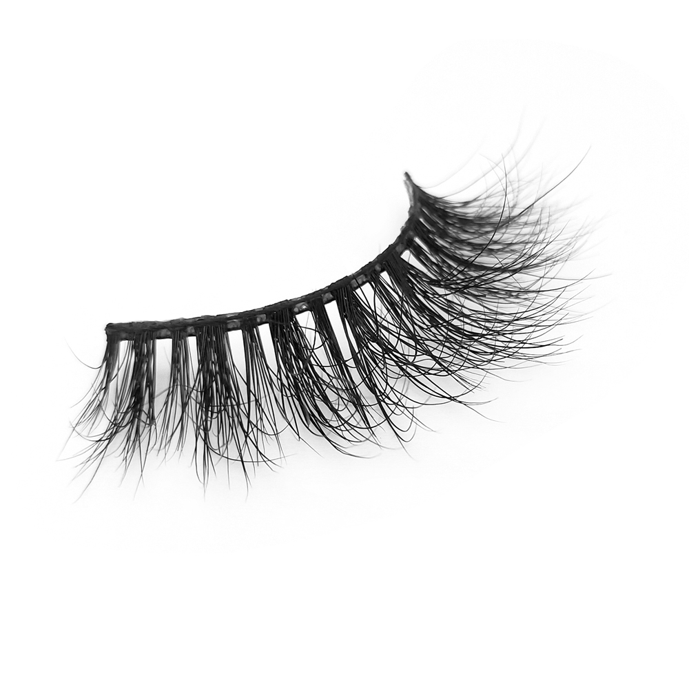 3D Mink Fur False Eyelashes Women  Makeup Natural False Individual private label  QJ20