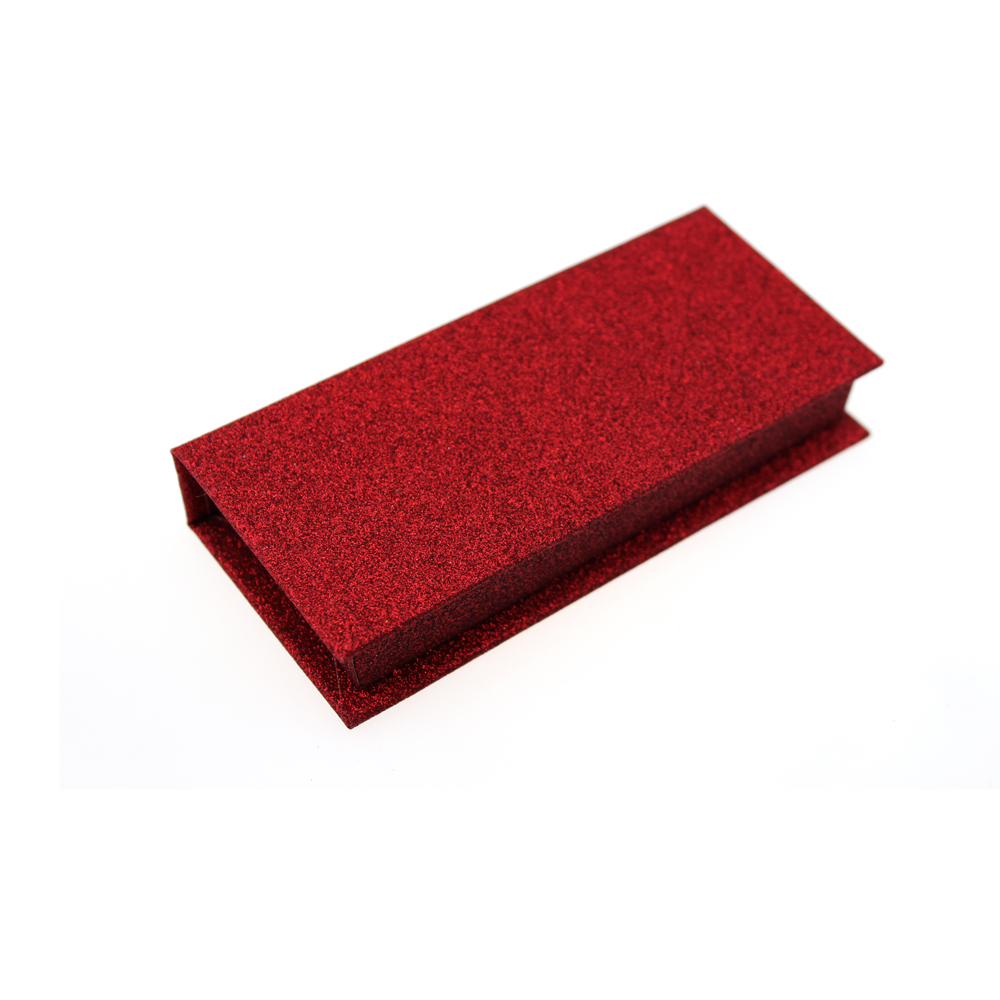 Christmas Red Color Custom Eyelash Packaging Box ZX030