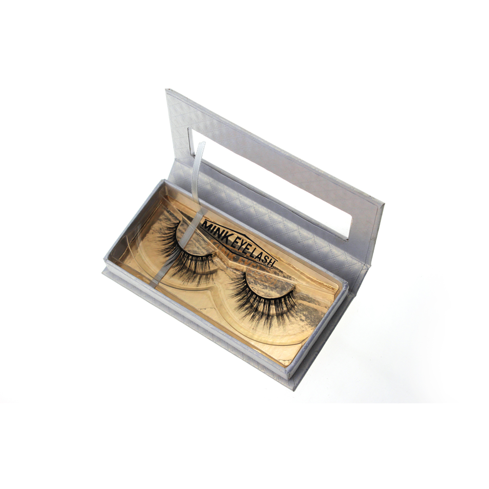 Private Label White Eyelash Packaging with Rectangle Window ZX033
