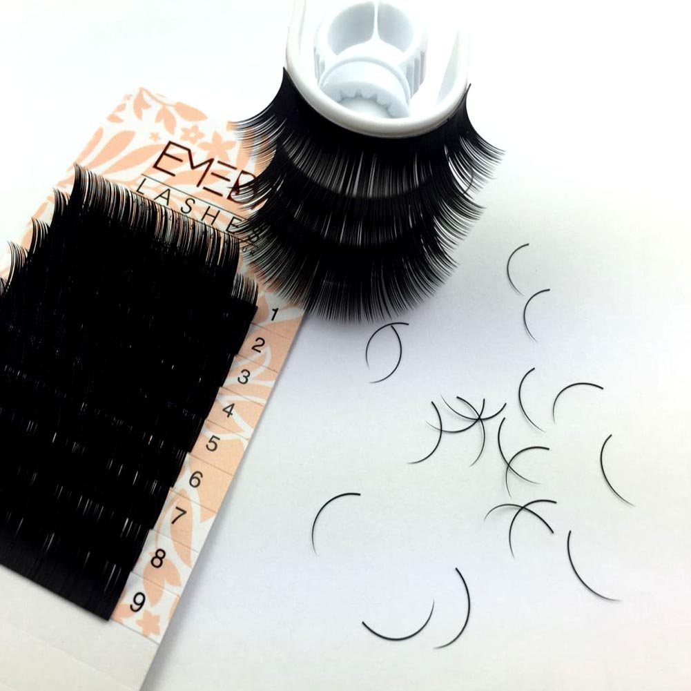 Privat label silk individual eyelash extensions vendors faux mink synthetic hair 0.07 C curl XJ08
