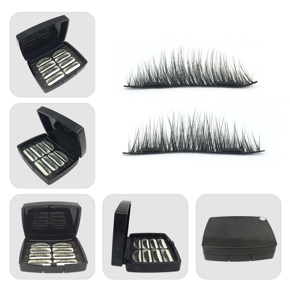 Magnetic synthetic fiber eyelash magnet lashes USA JH68