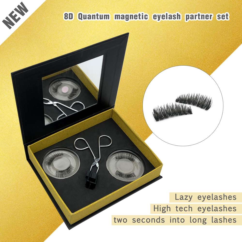 2020 New Product 3d faux mink quantum magnetic eyelashes ZX085