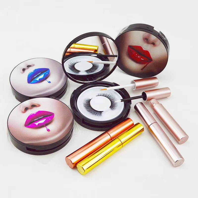 Colorful round eyelash box lashes package USA JH66