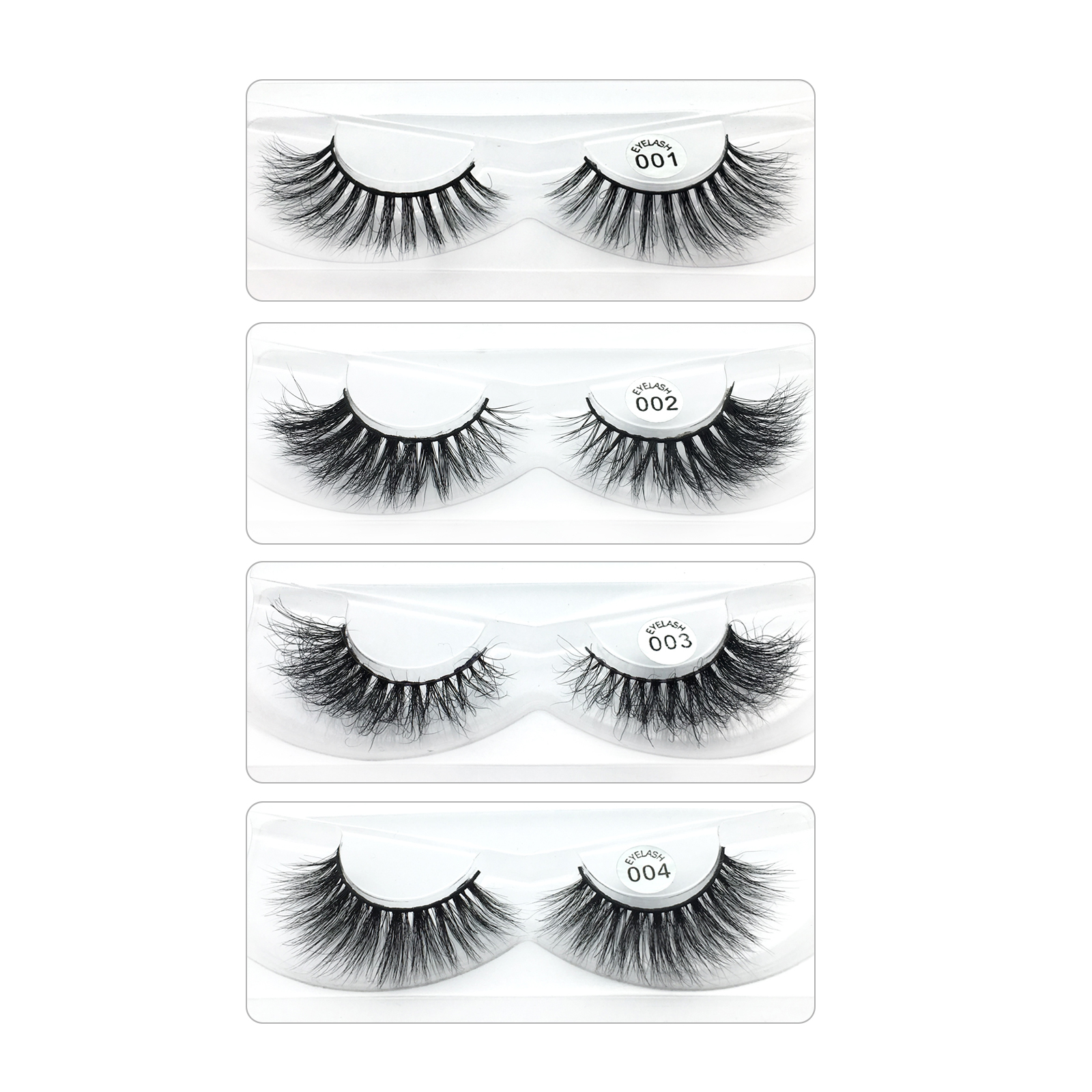 Best Seller Private Label 5D Mink Eyelashes 100% Handmade Real Mink Fur Customized Package YY10