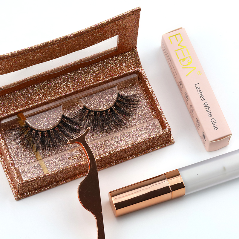 Best selling wholesale real mink 25mm lashes with package box  YY