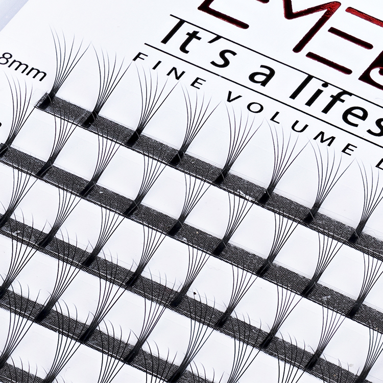 Inquiry for long stem glue bonded 6D eyelash extensions professional premade volume fans manufacturers wholesale UK YL76