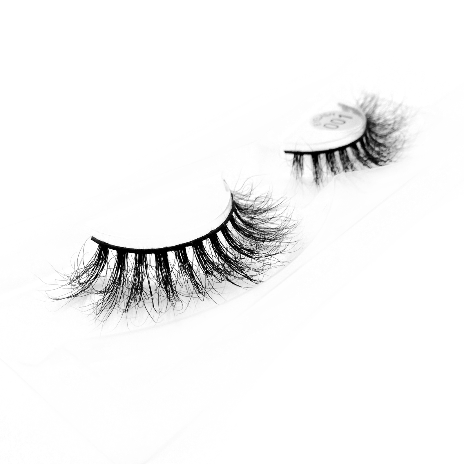Free Sample Accepted 100% Real Mink Fur 3D Strip Lashes with Private Package YY71