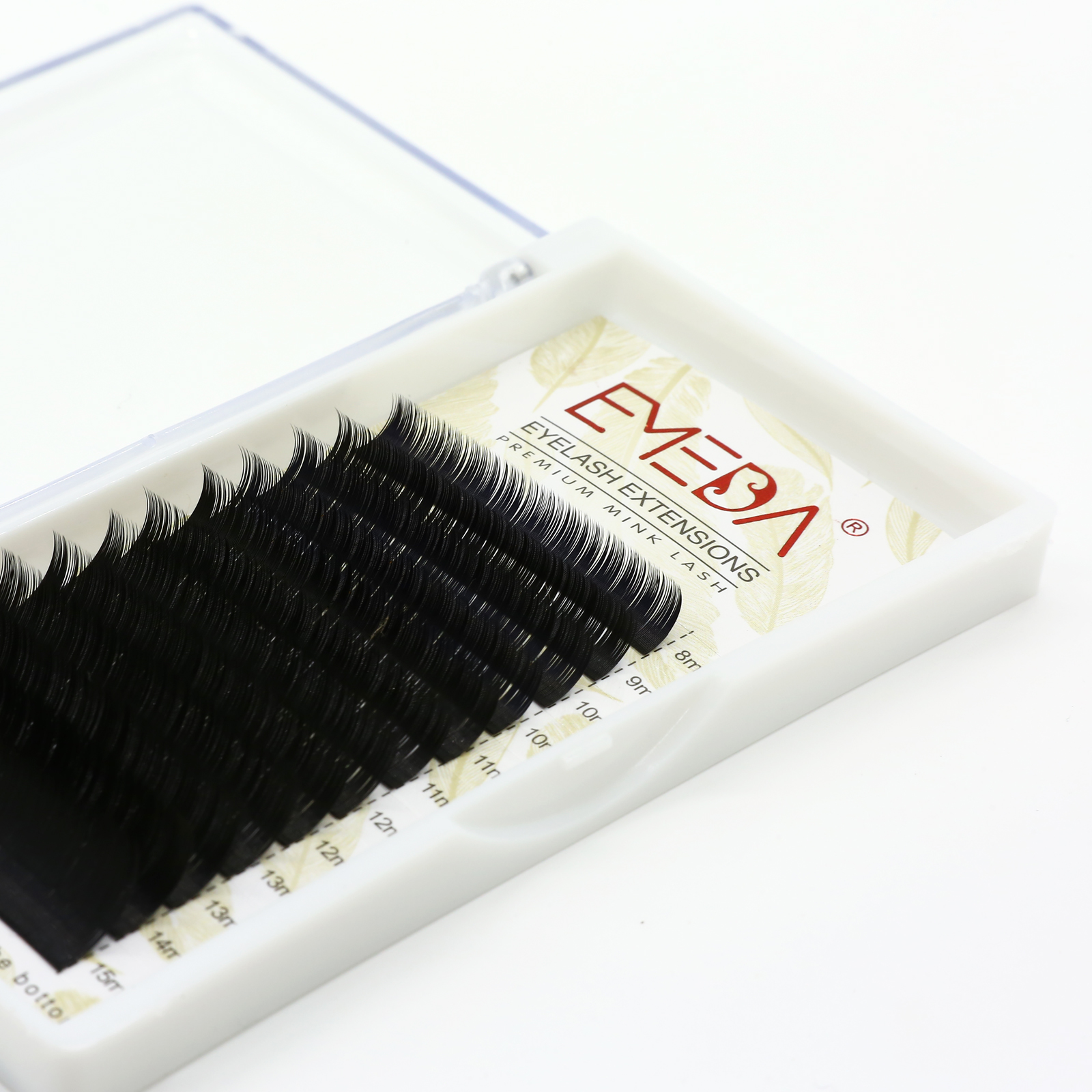 Individual lash Vendor Russian Individual Eyelashes with ODM/OEM Korea PBT Fiber/Silk Customize Private Logo and Package YY12