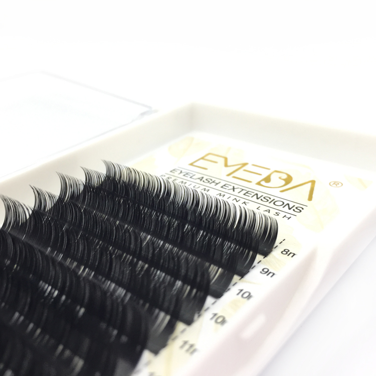 Free Samples Accepted Korea PBT Fiber C D Curl Russian Volume Eyelash Extension ODM OEM YY75
