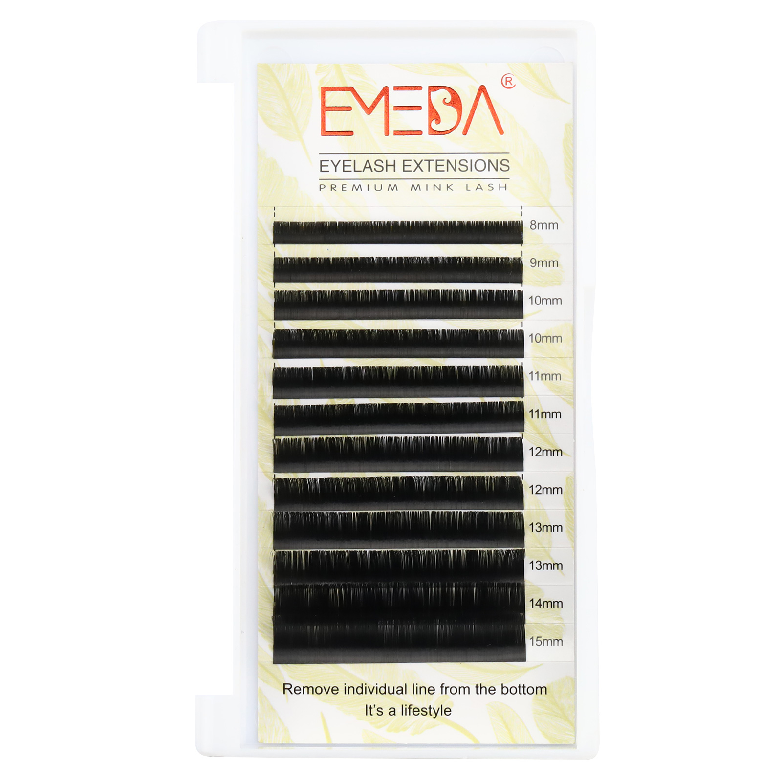 The styles of applying eyelash extensions