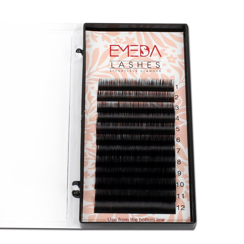 Best Seller Russian Volume Lashes Korea PBT Fiber with Private Logo Volume Lashes Vendor YY19