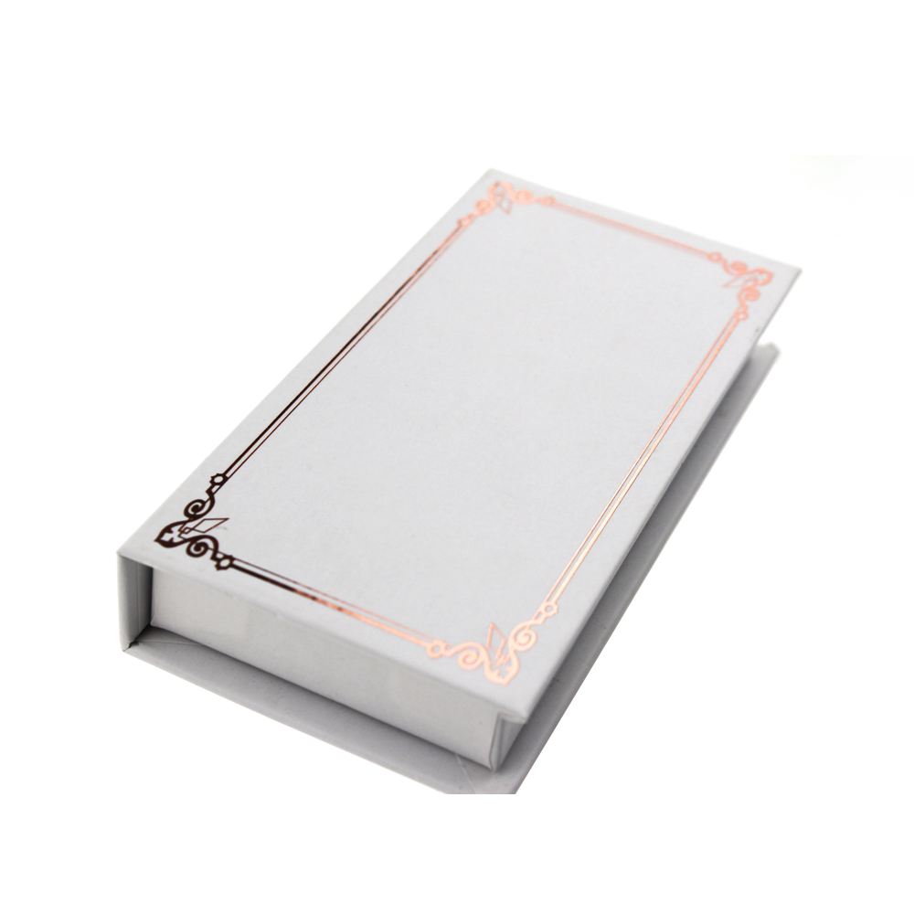 Wholesale White Rectangle Eyelash Packaging Box for Strip Lashes ZX035