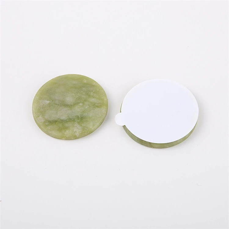 Wholesale 5CM Round Green Glue Holder Jade Stone for Eyelash Extension ZX079
