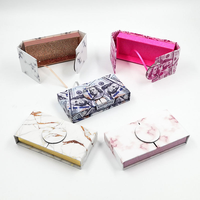 Private label eyelash packaging box eyelash vendor...